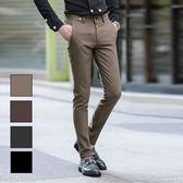 男 窄版/休閒褲/窄管褲 L AME CHIC  圓環掛飾微彈素面極修身休閒長褲 【EBP092103】