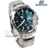 EDIFICE ETD-300D-3A 世界旅行 三眼錶 男錶 日期視窗 綠 ETD-300D-3AVUDF CASIO卡西歐 運動錶 石英錶