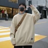 毛衣男冬季圓領寬鬆針織衫半高領加厚毛線衣【左岸男裝】