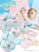 嬰兒手搖鈴玩具牙膠益智0-3-6-12個月寶寶1歲幼兒新生5男女孩8 漾美眉韓衣