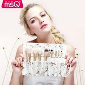 化妝刷套裝魅絲蔻9支小碎花 全套初學者彩妝工具刷子眼影刷