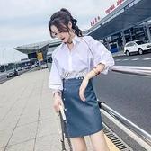 皮裙女春季新款短裙子高腰包臀不規則小皮裙a字一步裙半身裙快速出貨