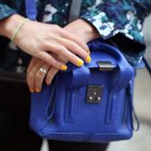 ■專櫃61折■ 全新真品3.1 Phillip Lim Mini Pashli 小牛皮兩用包 COLBAT鈷藍色 鎗色灰銀扣