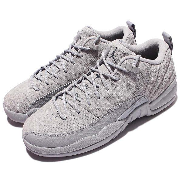 【六折特賣】Nike Air Jordan 12 Retro Low BG XII 灰 麂皮 大童鞋 女鞋 喬丹 12代 低筒【PUMP306】 308305-002