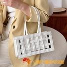百搭復古小包包女大氣時尚編織包春季復古洋氣女士手提包【小獅子】
