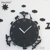 韓國創意卡通動物時鐘臥室靜音12寸牆壁掛鐘客廳現代掛錶HM 3C優購
