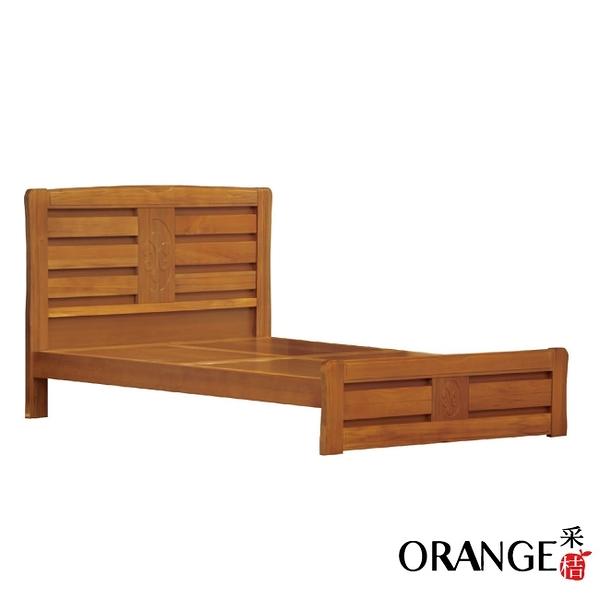 【采桔家居】馬波亞  時尚6尺實木雙人加大床台組合(不含床墊)
