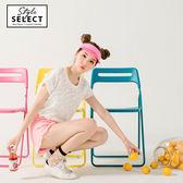 《KG0046》台灣製造~純色好感系圓點透膚圓領上衣 OrangeBear