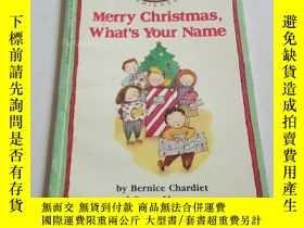 二手書博民逛書店merry罕見christmas, what s your na