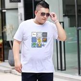 2019新款胖男大碼T恤短袖打底衫 加肥加大胖人寬鬆體恤半袖背心潮