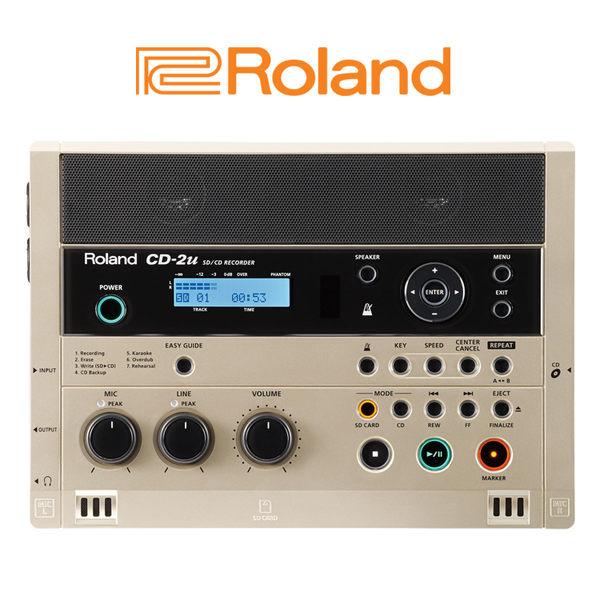 小叮噹的店- Roland 樂蘭 CD-2U SD/CD Recorder 攜便式錄音機 CD錄音機 (CD-2U)