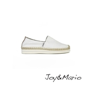 【Joy&Mario】純白色厚底草編休閒鞋 - 51004W WHITE