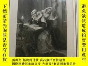 二手書博民逛書店【百罕見】《沒有得逞的窺視》(The Fail Maids of Einerslie) 鋼版畫 1845年 帶卡紙