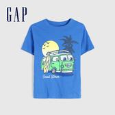Gap 男幼童 童趣風格印花圓領短袖T恤 584117-藍色