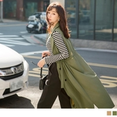《EA2923-》質感雙排釦翻領風衣型洋裝背心 OB嚴選
