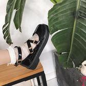 娃娃鞋 松糕鞋女日系jK制服鞋原宿圓頭小皮鞋厚底軟妹鞋子學院娃娃單鞋女