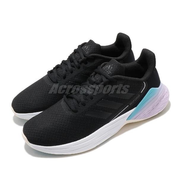 adidas 慢跑鞋 Response SR 黑 紫 女鞋 舒適緩震 運動鞋 【ACS】 FX8914