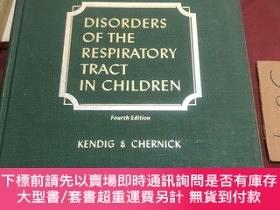 二手書博民逛書店disorders罕見of the respiratory tract in childrenY237539