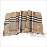 BURBERRY經典格紋設計羊毛圍巾(典藏米)