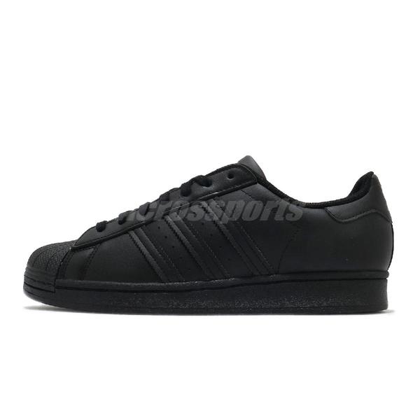 adidas 休閒鞋 Superstar 黑 全黑 男鞋 皮革鞋面 貝殼頭 運動鞋 【ACS】 EG4957