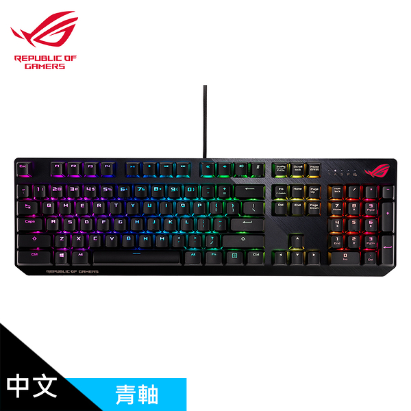 【ASUS 華碩】ROG Strix Scope NX RGB 機械式電競鍵盤 青軸