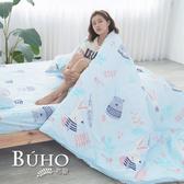 BUHO 雙人四件式舖棉兩用被床包組(朝氣滿點)