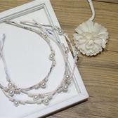 珍珠髮圈(任兩件)-典雅波浪珍珠設計女髮箍5款73gi66[時尚巴黎]