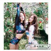 韓國顯瘦高腰分體比基尼長袖防曬衣沖浪浮潛水服水母服沙灘泳衣女