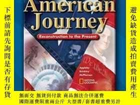 二手書博民逛書店The罕見American Journey Reconstruction To The PresentY364
