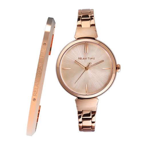 RELAX TIME閃耀系列錶款送手環