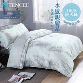 Minis 100%純天絲40支 床包兩用被套四件組 雙人 靜柏