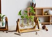 【橘果設計】創意復古植物清新透明小盆栽(三個玻璃瓶) 客廳裝飾擺飾水族無土栽培/水培