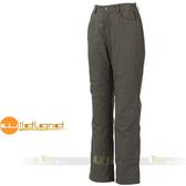 Wildland 荒野 W2301-64深卡灰  女 防風防潑水保暖長褲