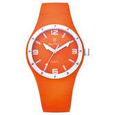 Olym Pianus奧柏表 真自我炫彩時尚運動腕錶-橘/38mm