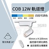 【奇亮科技】含稅12W COB軌道燈 LED軌道燈 投射燈 可調光調色 另購遙控器 ITE-50283、286