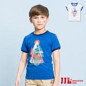 JJLKIDS 男童  漫步巴黎圓領純棉短袖上衣T恤(2色)