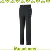 【Mountneer 山林 男輕量防風SOFT SHELL合身褲《鐵灰》】32S09/長褲/休閒褲/旅遊