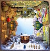 減壓拼圖1000片益智拼圖旋轉的四季花園【奈良優品】