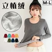 MIUSTAR 寒冬暖身首選立植絨棉質上衣(共9色,M-L)【NH3686RE】預購