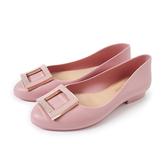 Petite Jolie 經典方扣果凍娃娃鞋-粉紅