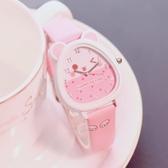 兒童手錶女孩防水學生可愛小學生時尚款女童男孩玩具公主粉色手錶