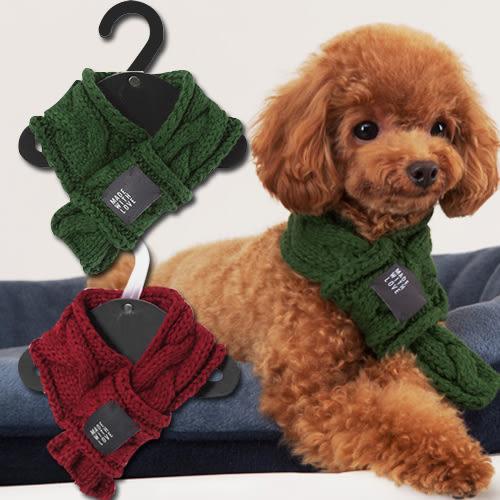圍巾 毛線小圍巾正韓外單寵物圍巾狗狗保暖圍巾貓圍巾 中元節禮物