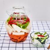 泡菜壇子玻璃家用腌制咸菜的罐子密封缸加厚四川大號腌菜酸菜罐 居享優品