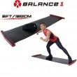 【BALANCE 1】橫向核心肌群訓練 滑步器 豪華版180cm(SLIDING BOARD EX 180cm)-黑