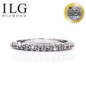 【滿鑽線戒,ILG鑽】頂級八心八箭鑽石戒指-獨家訂製完美線戒款 鑽約3分 電鍍真金防過敏 RI063