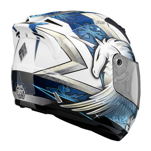 SOL安全帽,68S,69S,3代獨角獸/白藍