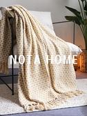 ins北歐黃色空調毯蓋毯小清新民宿裝飾毯床尾巾家用沙發毯單人毯 韓國時尚週 LX