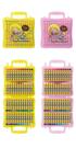 奶油獅 BLOP-48 48色粉蠟筆 (塑盒)/一箱6盒入(定230) 大支 奶油獅粉腊筆