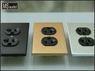 《名展影音》特惠組-高階Hi-End音響級鍍銠電源插座加實心鋁車製蓋板 (兩色可選)