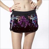 數碼未來短褲裙TAN103(含底褲) -百貨專櫃品牌 TOUCH AERO 瑜珈服有氧服韻律服